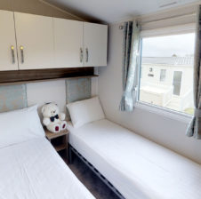 luxury caravan single beds