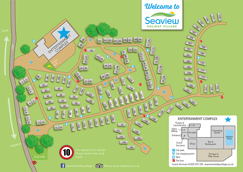 Seaview Holiday Village Park Map