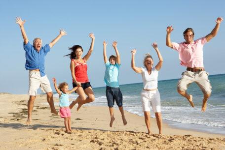 Family-jumping-coastal-